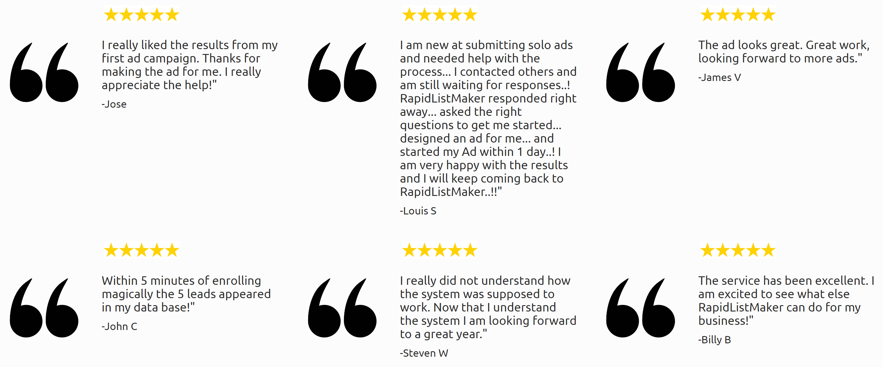 Testimonials - Here's What Our Customers Have To Say